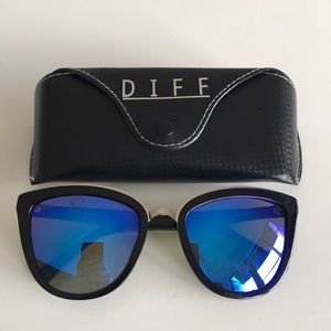 DIFF Sunglasses Blue Lenses Jojo X Diff collection